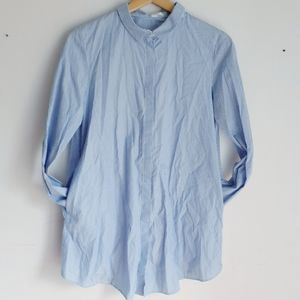 COS Button Down Tulip Back Tunic Size 8